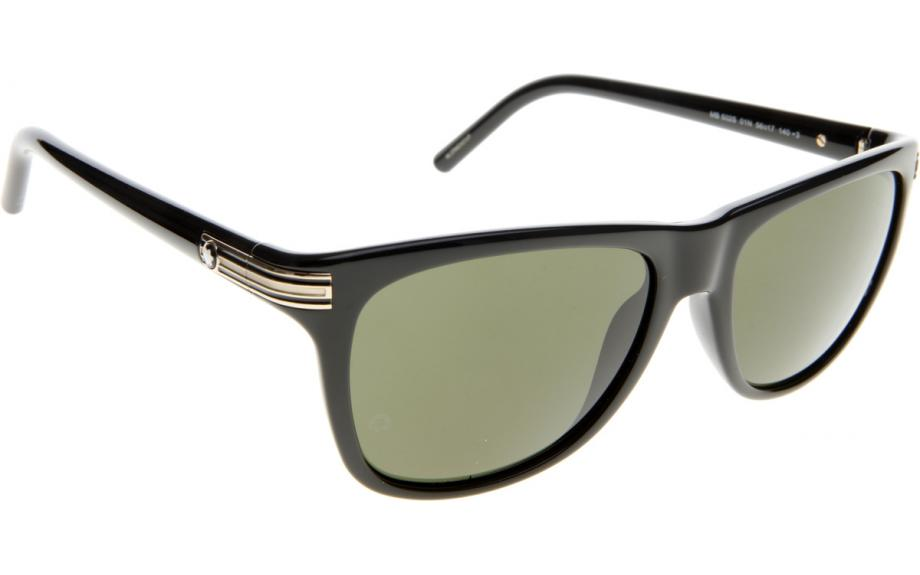 Shiny Black Mont Blanc Mens MB502S 01N Sunglasses